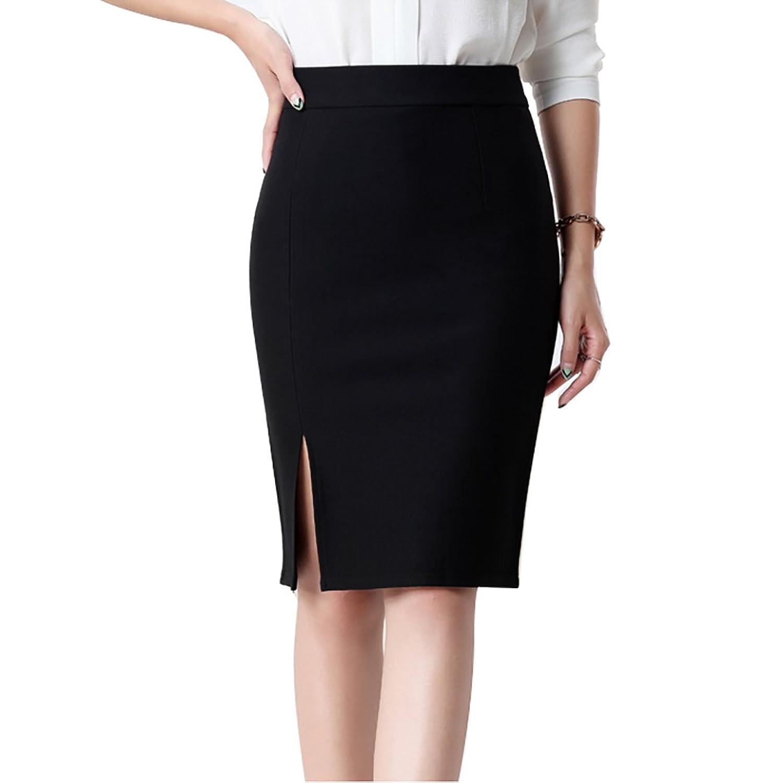1b1752d9ffbf6 durable modeling JET-BOND Pencil Skirt for Office Wear FS27 Casual Split at  Side Barrel