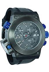 Adee Kaye Men's Bulldozer G2 52.91mm Black Silicone Band Steel Case Quartz Analog Watch AK6666-MIPGN