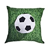 LiPing World Cup 2018 Theme -17.7x17.7in/45x45cm I Love Football Polyester Cotton Soft Home Decor Cushion Cover Football Soccer Throw Pillowcase Pillow Covers (H)
