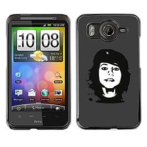 Caucho caso de Shell duro de la cubierta de accesorios de protección BY RAYDREAMMM - HTC G10 - Che Rebel Girl