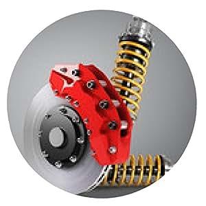 alfombrilla de ratón frenos de automóviles con 3d absorbedores - ronda - 20cm