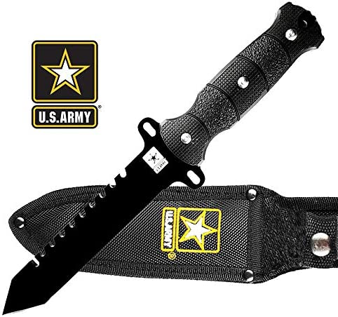 Falcon U.S. Army Licensed Military Tactical Knife Collection 2 Ring Karambit SOCP Style Tactical Dagger Tactical Combat Knife.