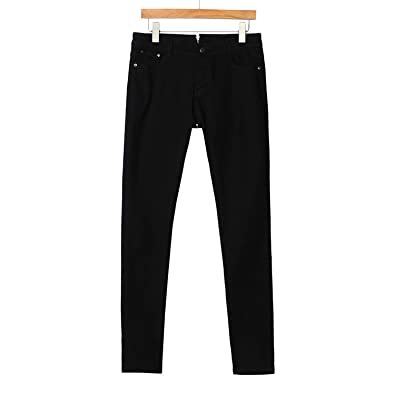 Womens Black Mid Rise Ripped Skinny Jeans Sizes 6-16 Ladies