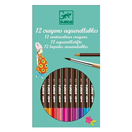 Free Djeco 12 Watercolour Crayons in girly colours