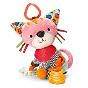 Bandana Buddies Baby Activity and Teething Toy with Multi-Sensory Rattle and Textures, Kitty