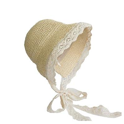 ZHENGTU Chapeau de pêcheur/Cent Dentelle/Fait à la Main/Taille Universelle Ajustable/Respirant Couleur Non-Sensuelle: Beige Protection UV Bon Effet (Color : Beige) Cuisine & Maison