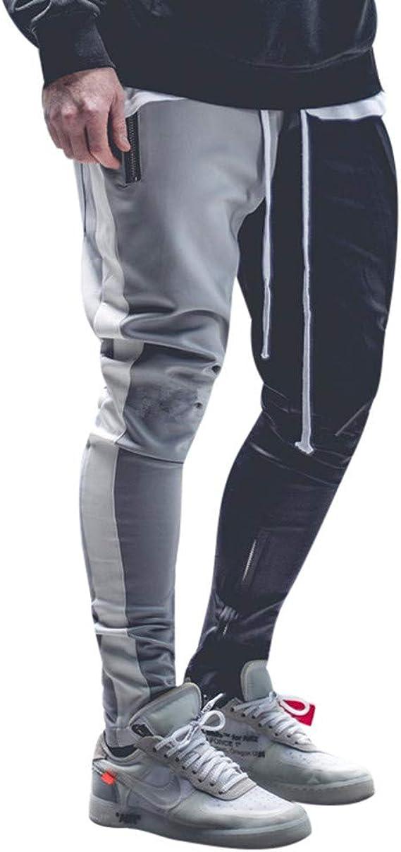 Pantalones de chándal para Hombre Pantalones elásticos Largos de ...