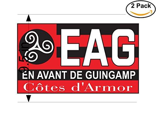 fan products of En Avant de Guingamp France Soccer Football Club FC 2 Stickers Car Bumper Window Sticker Decal Huge 9.5 inches