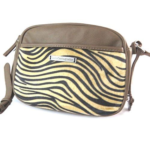Bag designer Lulu Castagnettemarrone tabby - 25x18x9 cm.