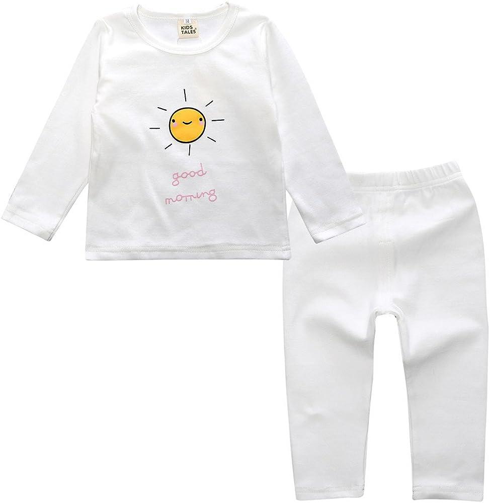 4-24M Kids Tales Babby Boy Girl Cotton Pajamas Set 2Pcs Long Sleeve Sleepwear