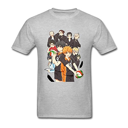 Tommery Men's Haikyuu Design Short Sleeve Cotton T Shirt (Halloween Rob Zombie Wallpaper)
