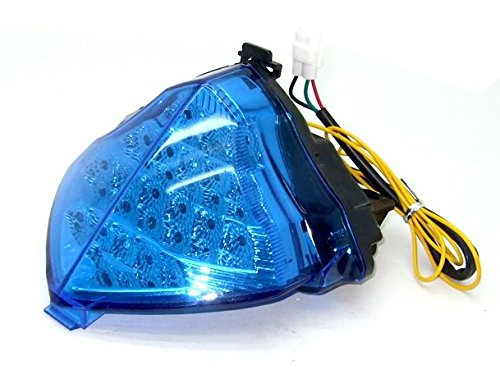 - Motocycle LED Integrated Rear Running Tail Stop Brake Light Super Bright Tail Light Fit For Yamaha 2004 2005 2006 YZF R1 YZF-R1 Chrome Blue