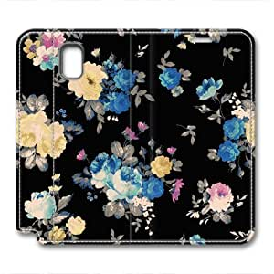 iCustomonline Leather Case for Samsung galaxy Note 3, Flower Ultimate Protection Leather Case for Samsung galaxy Note 3