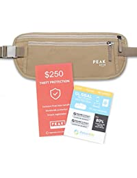 Travel Money Belt with RFID Block - Theft Protection and Global Recovery Tags