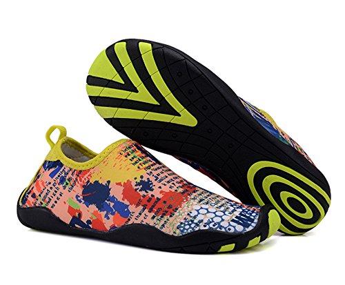 UNN Herren Slip On Water Schuhe Barfuß Quick-Dry Aqua Yoga Sportsocken Lila