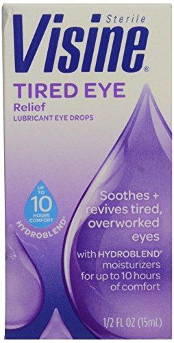 Gouttes-0,5 Visine Fatigué Dégagement oculaire oculaires lubrifiantes oz