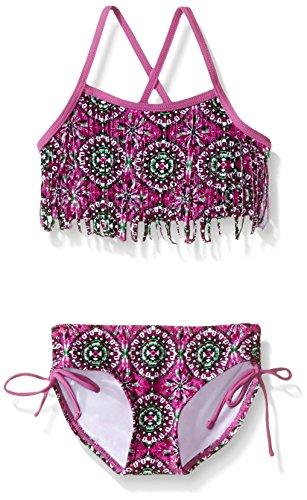 Kanu Surf Baby Girls' Hannah Fringe Bikini Swim Suit, Purple, 12 Months