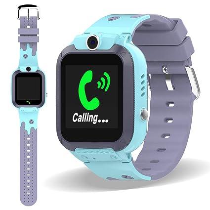 Amazon.com: Reloj inteligente impermeable para niños y niñas ...