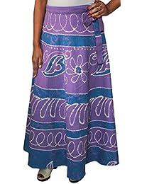 Batik Print Long Skirt India Wrap Womens Cotton Indian Clothes