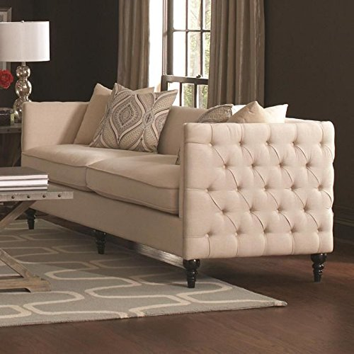 Coaster 504891 Home Furnishings Sofa, Oatmeal