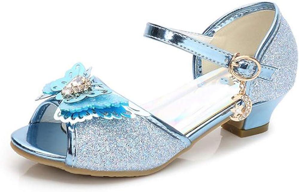 Princess Girls Cute Sparkle Sandals Fancy Dress Up Party Dancing