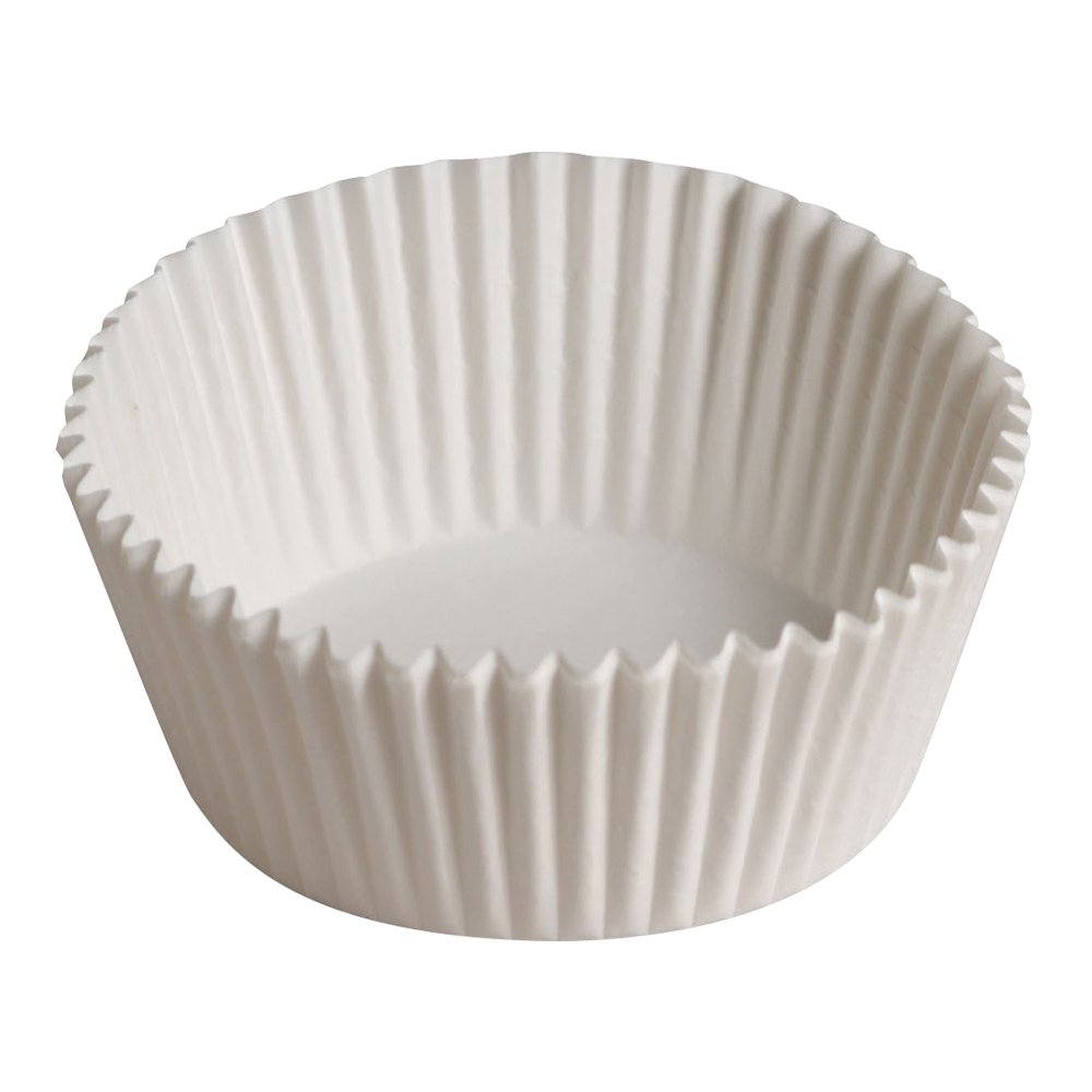 Hoffmaster 610061 Fluted Bake Cup, 5-Ounce Capacity, 5-1/2'' Diameter x 1-1/4'' Height, White (20 Packs of 500)