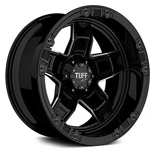 TUFF Rim T-10 20X10 8x170 Offset -9 Gloss Black w/Milled Spokes (Qty of 1)