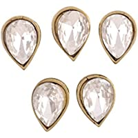 AM Crystal Kundans for Jewellery Making (Gold, 10x7x4cm) - Pack of 5