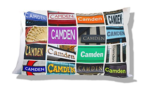 CAMDEN Personalized Pillowcase featuring the name in photos of signs