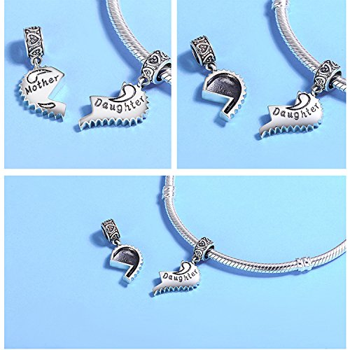 EyeCandy US Mother and Daughter 100% 925 Sterling Silver Love Forever Pendant Charms fit Bracelets Necklace Jewelry Making by EyeCandy US (Image #5)