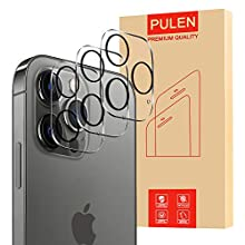 [3-Pack] PULEN for 12 Pro Camera Lens Protector,HD Clear Scratch Resistant Bubble Free Anti-Fingerprints 9H Hardness Tempered Glass