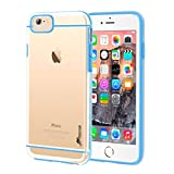 iPhone 6s Case, rooCASE iPhone 6 Case [FUSION Series] Slim Fit Hybrid Clear PC / TPU Trim Case Cover for Apple iPhone 6 / 6s (2015), Clear / Blue