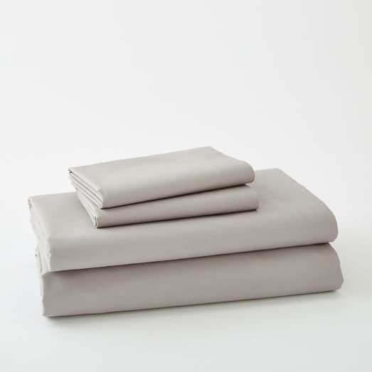 400-Thread-Coun​t Organic Cotton Percale Sheet Set | west elm