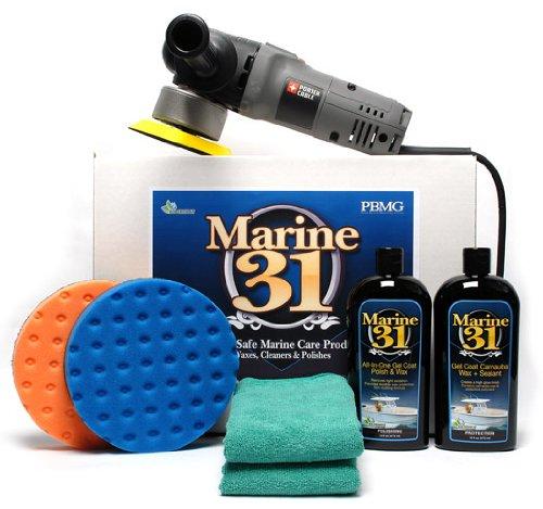 Porter Cable 7424xp Marine 31 Boat Polish & Wax Kit by Marine 31 (Image #1)