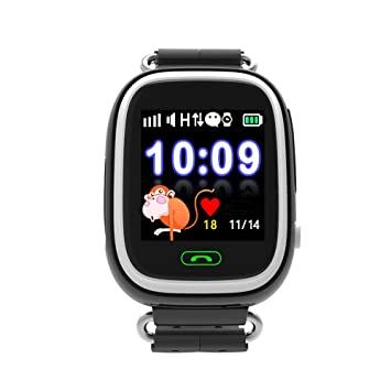 Jslai Localizador GPS Niños Reloj Rastreador Pantalla Táctil Smartwatch para Niños con SOS Reloj Despertador Anti-perdida GPS Kid Tracker Reloj de ...