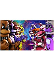 Five Nights at Freddy's FNAF 1/4 Size Cake Topper Edible Icing Image Photo Cake Frosting Icing Topper Sheet Birthday Party - 1/4 Cake - 16133