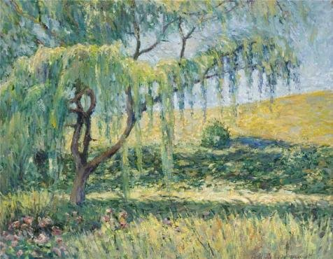 Blanche Hoschede Monet The Willow At Giverny  Oil Painting  12X15 Inch   30X39 Cm  Printed On Polyster Canvas  This Cheap But Art Decorative Art Decorative Canvas Prints Is Perfectly Suitalbe For Bedroom Decoration And Home Gallery Art And Gifts