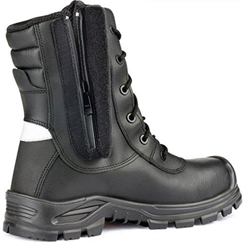 3d8558df20440 Jallatte Jalarcher 00JJV28 Chaussures de sécurité en cuir vibram tactique à  fermeture éclair ...