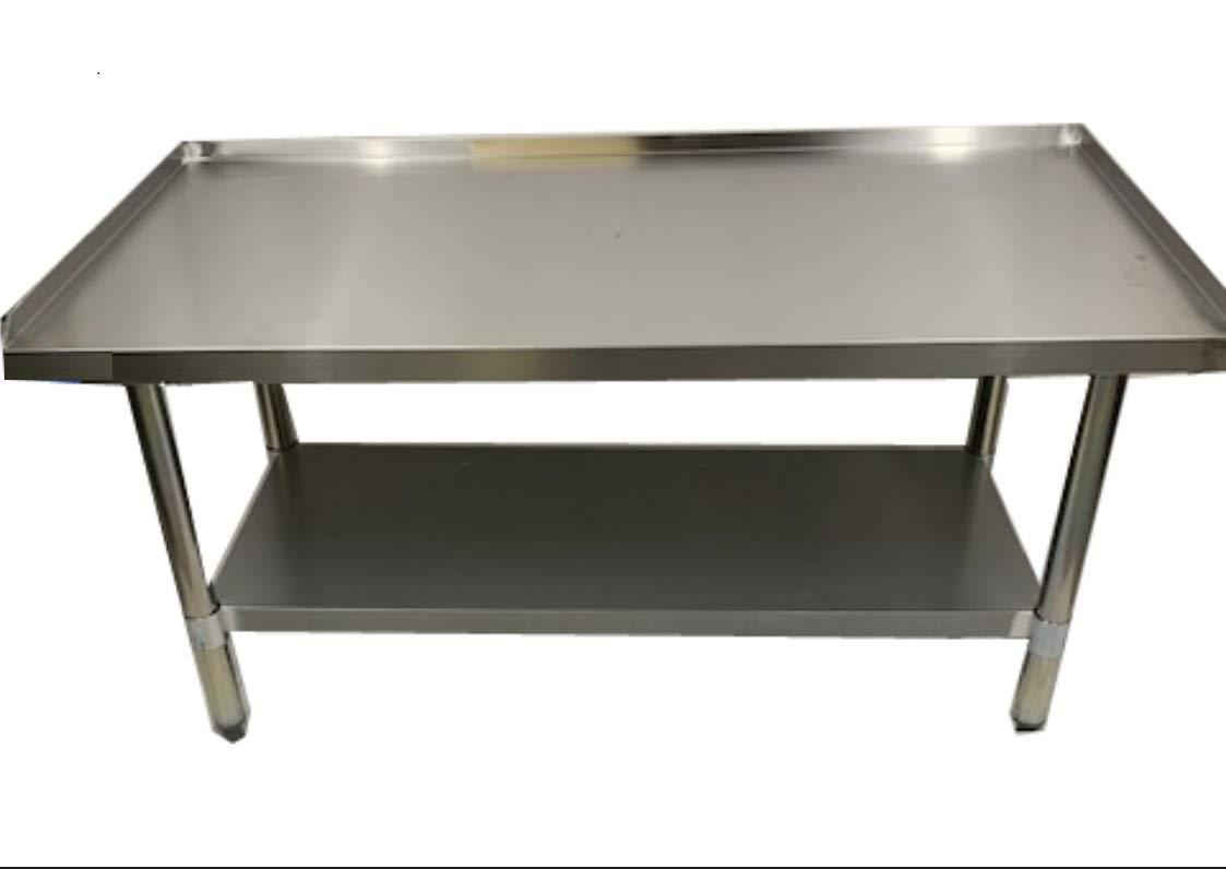 "24/"" x 48/"" 16-Gauge Stainless Steel Equipment Stand With Undershelf"