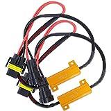HSUN H11 H8 H9 LED Bulb Load Resistor,50W 6 Ohm Decoder Warning Canceller-Canbus Error Free
