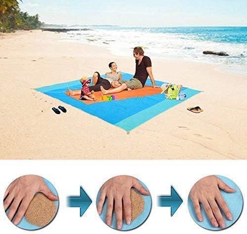82x79 Inch Sand Free Beach Mat Outdoor Picnic Blanket Rug Sandless Mattress Pad