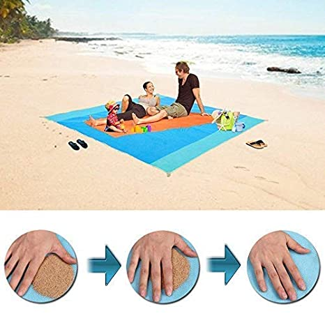 200 X 200cm Beach Mat Sand Free Magic Mat Beach Sandless Foldable Outdoor Waterproof Blanket Camping Picnic Folding Mat Camping Mat