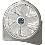 Lasko 3520 20' Cyclone Pivoting Floor Fan, Silver