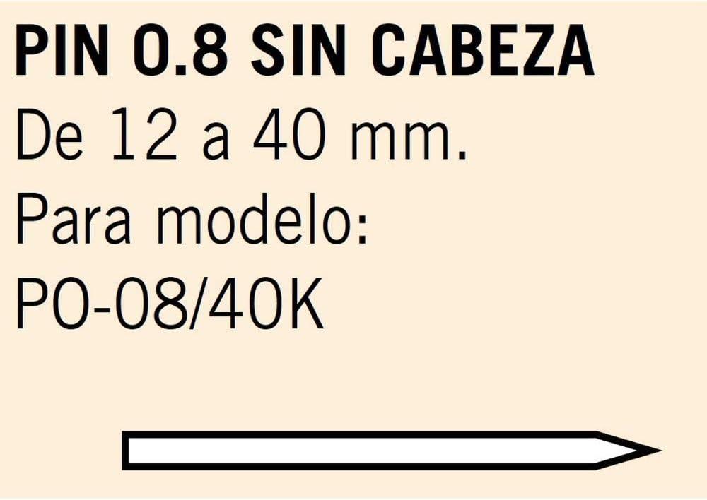 Caja de 27,5 Millares Pin 0.8 Sin Cabeza Largo 15 mm Cevik MCPIN0.8-15