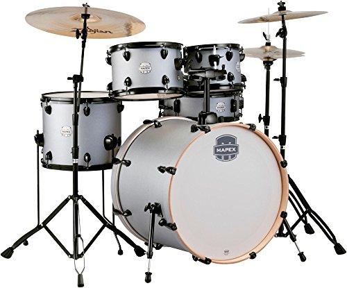 MAPEX ST5295FBIG Storm Rock 5 Piece Drum Set with Black Chrome Hardware, Iron Grey