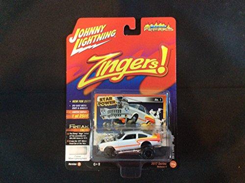 Johnny Lightning 1:64 Street Freaks Ver B Zingers 1972 Chevy Vega Pearl White