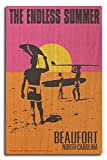 Beaufort, North Carolina - The Endless Summer - Original Movie Poster (10x15 Wood Wall Sign, Wall Decor Ready to Hang)