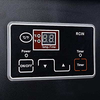 COSTWAY EP21683 Electric Portable Infrared Quartz Space Heater Remote Black