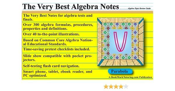 The Very Best Algebra Notes 1, Mark Stansberry - Amazon.com