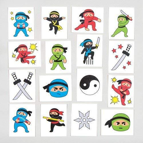 Amazon.com: Baker Ross Ninja Temporary Tattoos (Pack of 24 ...